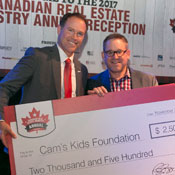 Cam's Kids chosen for support by the Canadian Real Estate Industry Reception