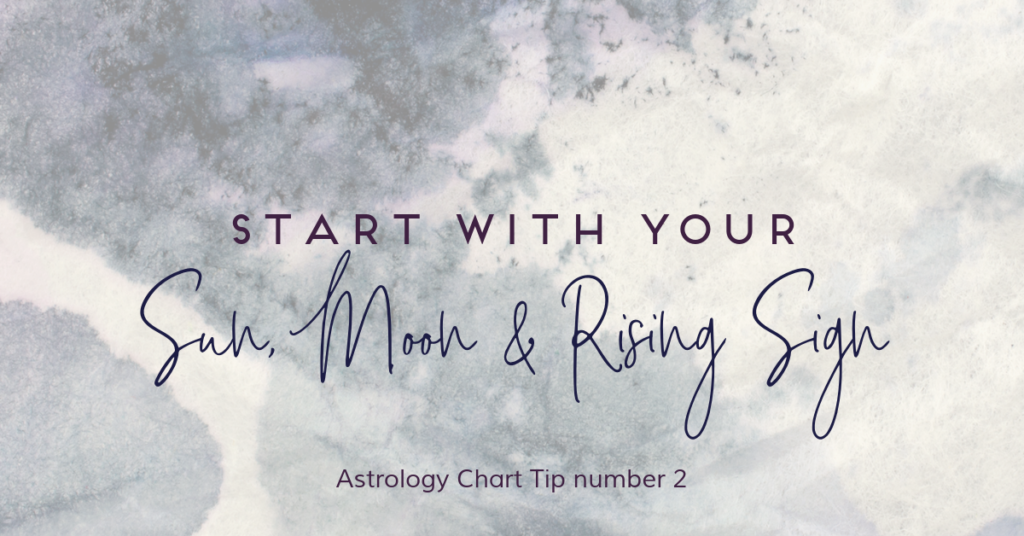 Sun, Moon & Rising Sign